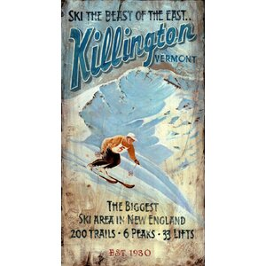 Killington Vintage Advertisement Plaque by Red Horse Arts