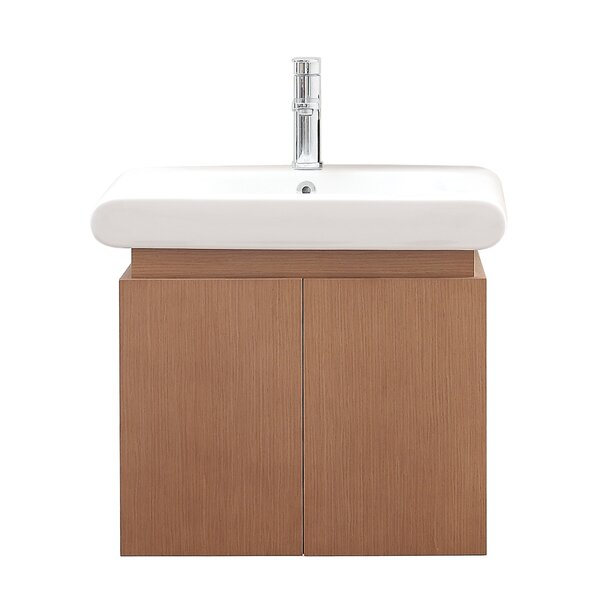 Bastian 24 Single Wall Mounted Bathroom Vanity Set by Orren EllisBastian 24 Single Wall Mounted Bathroom Vanity Set by Orren Ellis