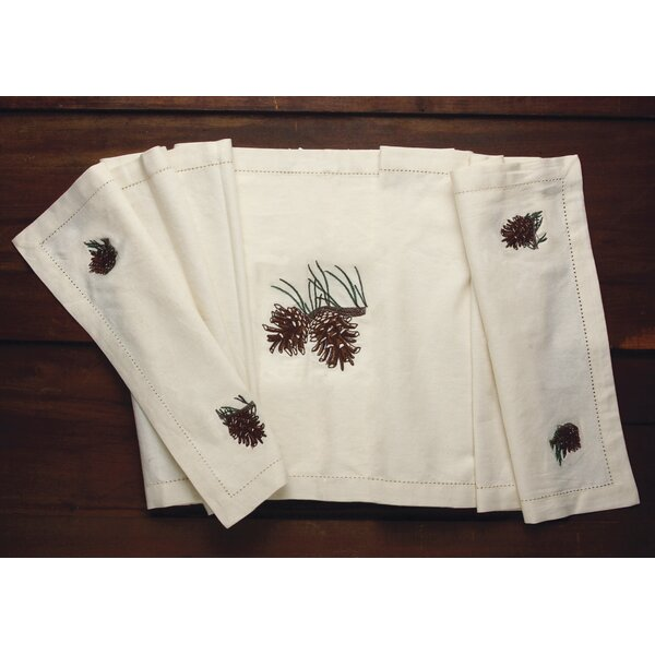Trevor Pine Cone Table Runner by Loon Peak