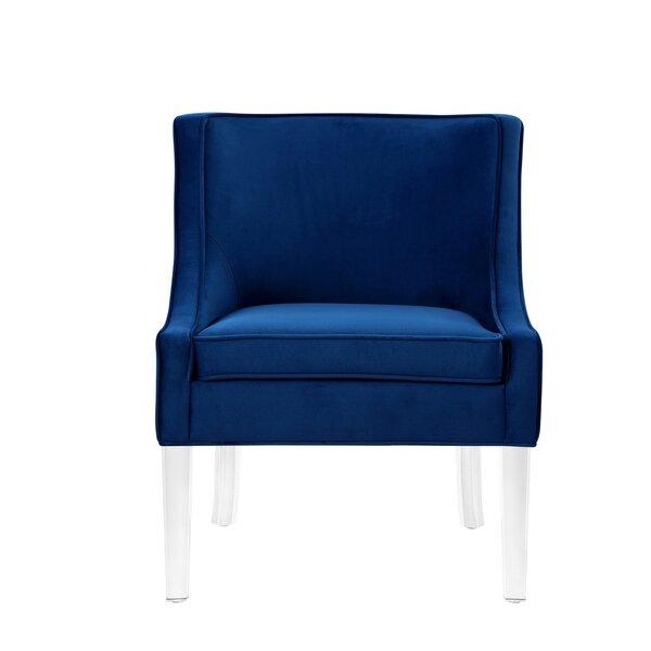 Marlon Velvet Slipper Chair By Nicole Miller
