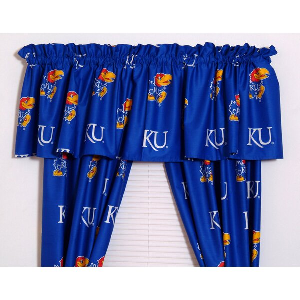 NCAA Kansas Printed Sports Rod Pocket Curtain Panels (Set of 2) by College Covers