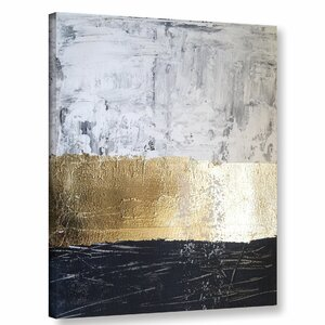 'Golden Sea' Graphic Art Print on Canvas by Willa Arlo Interiors