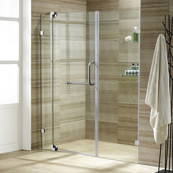 Pirouette 60 x 72 Pivot Frameless Shower Door by V