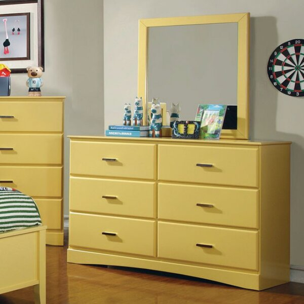Segars 6 Drawer  Bachelors Chest with Mirror by Harriet Bee