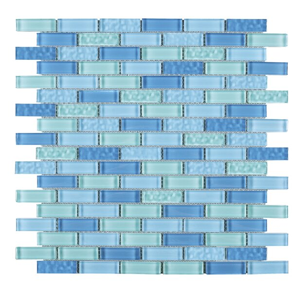 Maldvies 1 x 2 Glass Tile in Blue by Multile