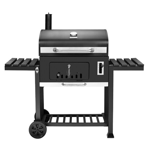 27'' Deluxe Charcoal Grill with Side Shelves by Royal Gourmet Corp