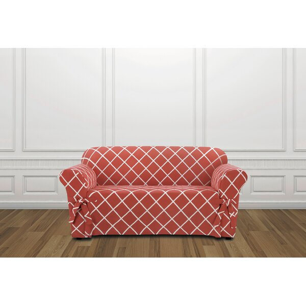 Lattice Box Cushion Loveseat Slipcover by Sure Fit