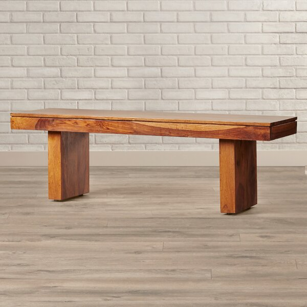 Brooklyn Heights Wood Bench by Brayden Studio