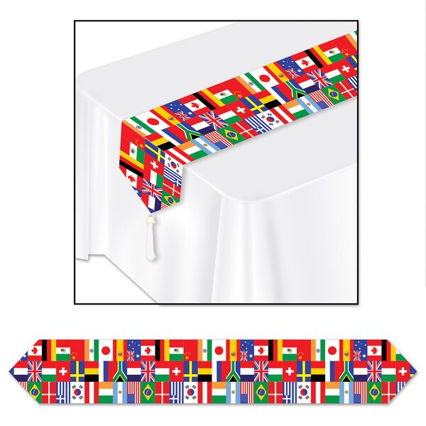 Manfredi International Flag Table Runner (Set of 3) by The Holiday Aisle