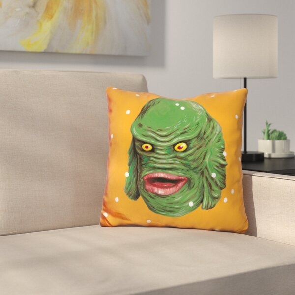 Jiang Creature from the Black Lagoon Throw Pillow by Symple Stuff