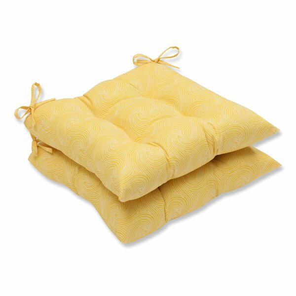 Nabil Indoor/Outdoor Dining Chair Cushion (Set of 2) by Pillow Perfect