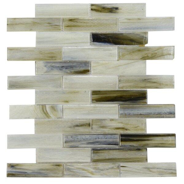 Laguna Glass Mosaic Tile in Gray/Black by Byzantin Mosaic