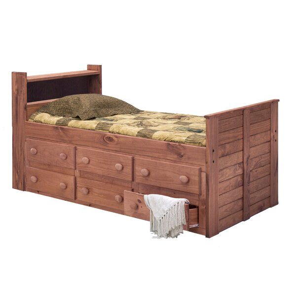 Christiano Twin Mates Bed with Drawers and Bookcase by Harriet Bee