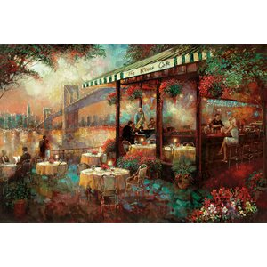 'The River Café' Painting Print on Canvas by East Urban Home