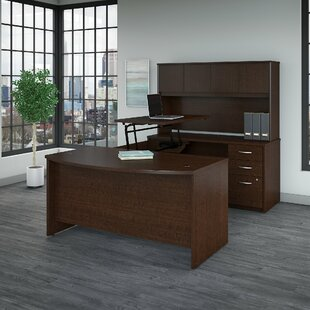 Series C Elite Height Adjustable L-Shaped Standing Desk With Hutch