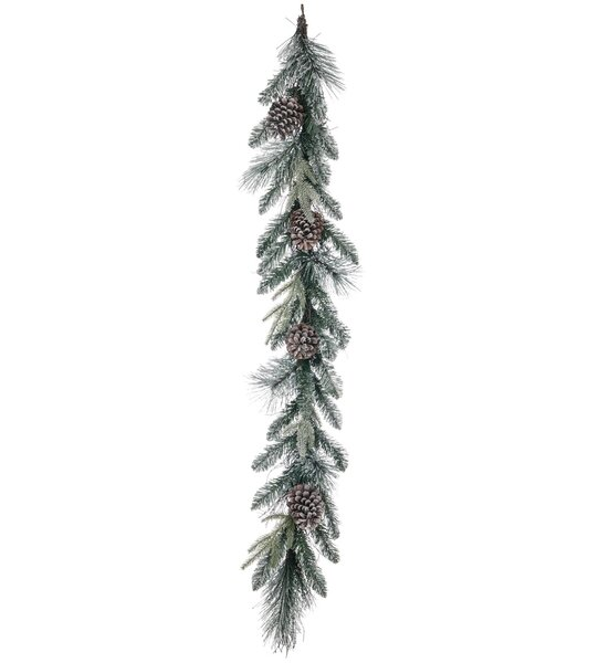 Flocked Pine with Cones Garland by The Holiday Aisle