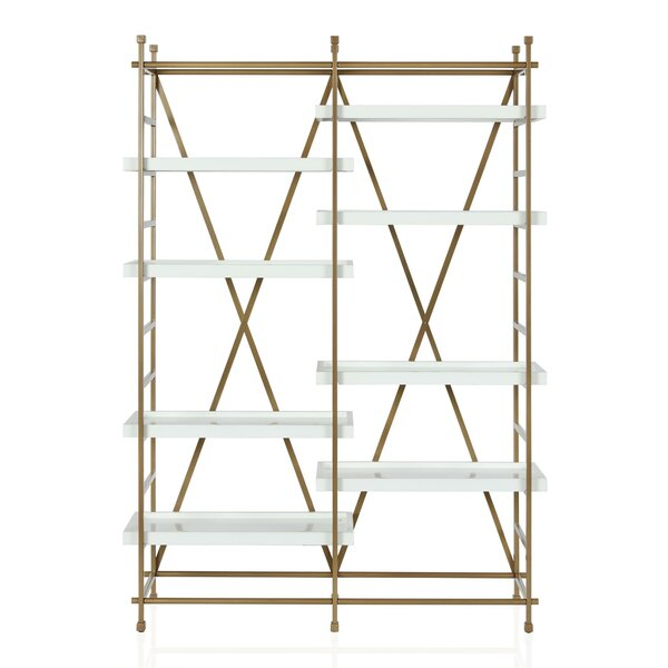 Inexpensive Yves Metal Etagere Bookcase by CosmoLiving by Cosmopolitan