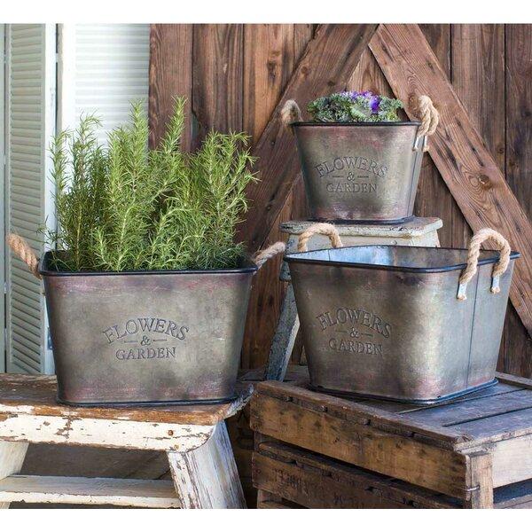 Winterbourne Metal 3 Piece Pot Planter Set by Gracie Oaks