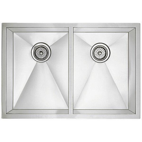 Precision 32 L x 18 W R10 Medium Double Bowl Undermount Kitchen Sink by Blanco