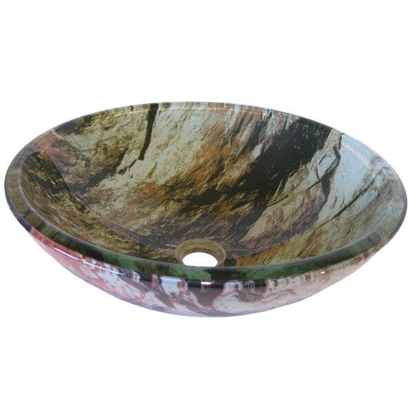 Cullare Glass Circular Vessel Bathroom Sink by Novatto