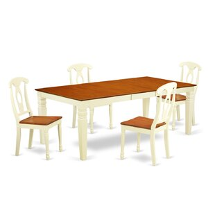 Beesley 5 Piece Buttermilk/Cherry Wood Dining Set By Darby Home Co