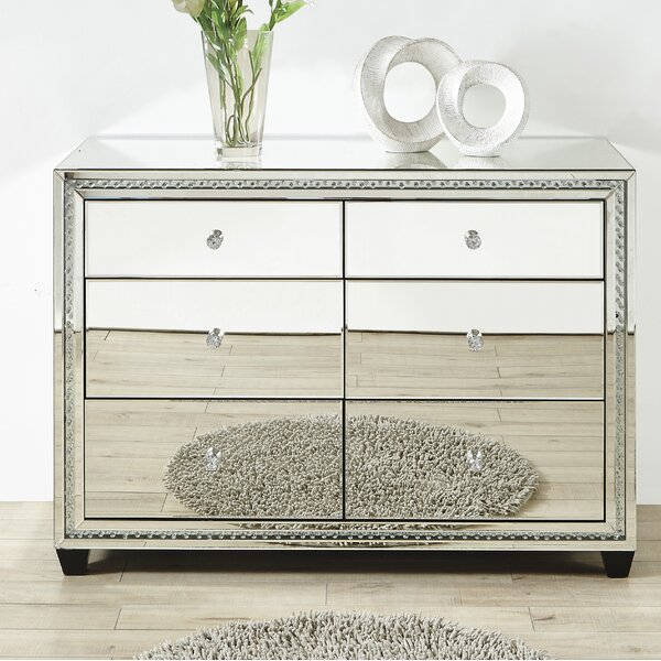 Laster Crystal 6 Drawer Accent Chest by Rosdorf Park