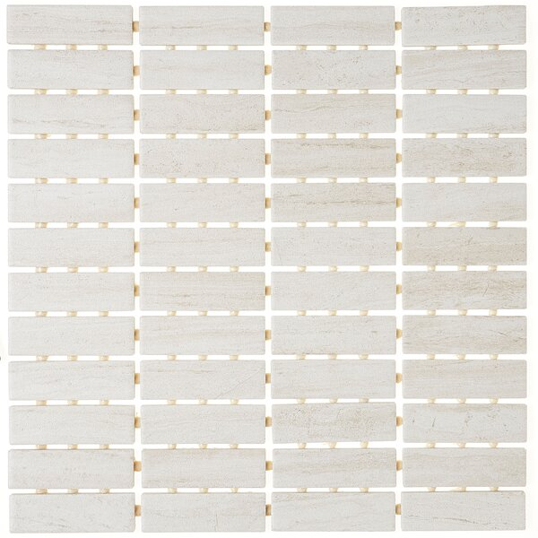 1 x 3 Ceramic Mosaic Tile in Editorial White by Itona Tile