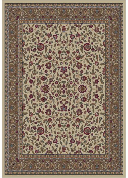 Edmont Jewel Kashan Ivory Area Rug by World Menagerie