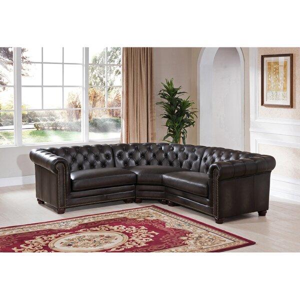 Sale Price Altura Leather Symmetrical Modular Sectional