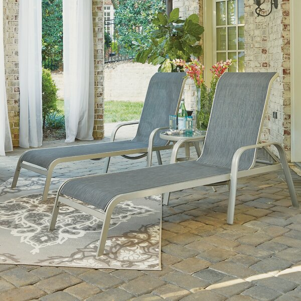 Dinan Reclining Chaise Lounge Set with Table by Red Barrel Studio