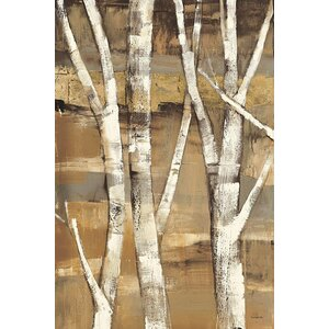 Wandering Through the Birches I Painting Print on Wrapped Canvas by Charlton Home