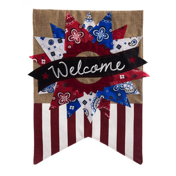 Patriotic Welcome Garden Flag by Evergreen Enterpr