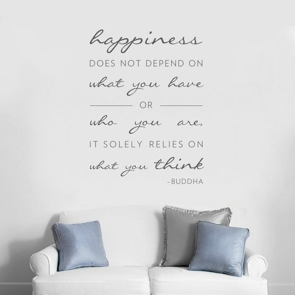 Happiness Does Not Depend On Wall Decal by Wallums Wall Decor