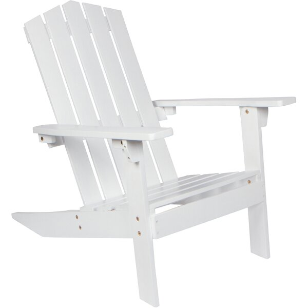 Weddington Solid Wood Adirondack Chair by Breakwater Bay