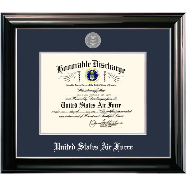 Air Force Discharge Classic Picture Frame by Patriot Frames