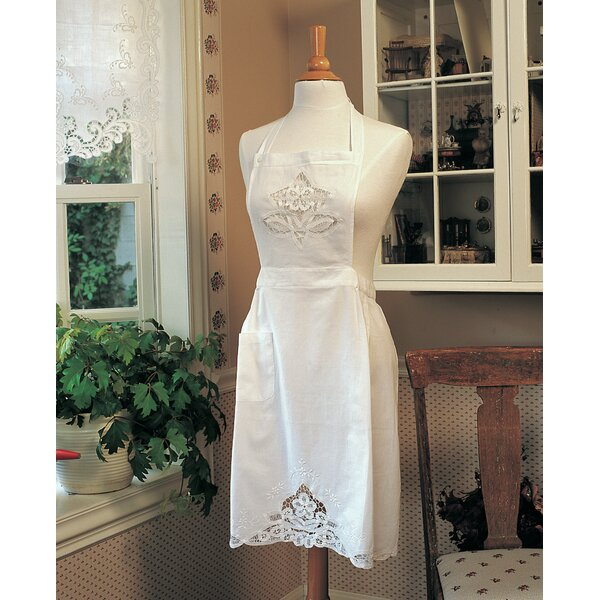 Embroidered Battenberg Apron by Saro