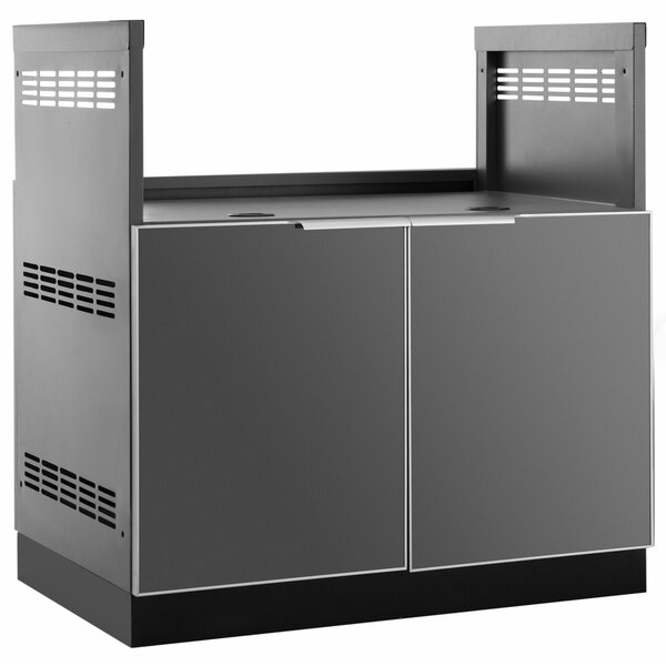 Outdoor Kitchen Aluminum Glass BBQ Bar Center by N