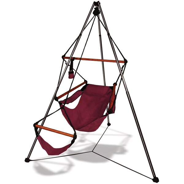 Winchcombe Polyester Chair Hammock with Stand by Freeport Park