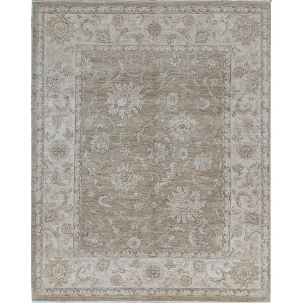 Sultanabad Oriental Hand-Knotted Wool Gold/Cream Area Rug