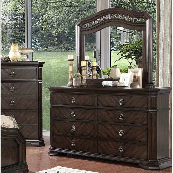Rudisill 8 Drawer Double Dresser with Mirror by Astoria Grand
