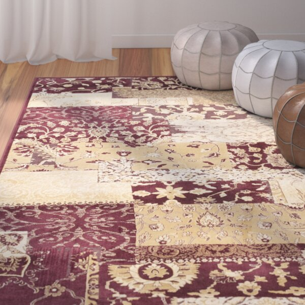 Saint-Michel Red Area Rug by Bungalow Rose