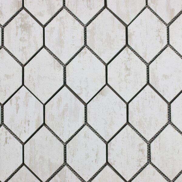 Nature Honeycomb 3 x 5 Glass Subway Tile in Tan/Gray by Abolos