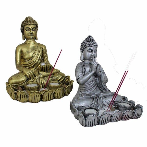 Costilla Assortment Buddha 2 Piece Figurine Set by World Menagerie