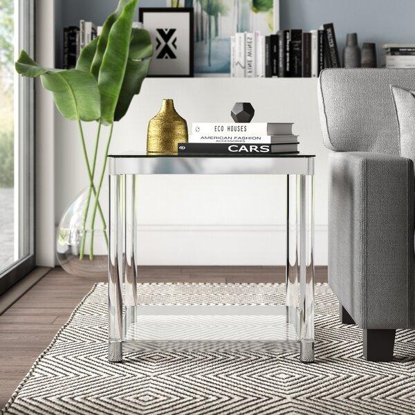 Home & Garden Mcgrady Glass Top End Table