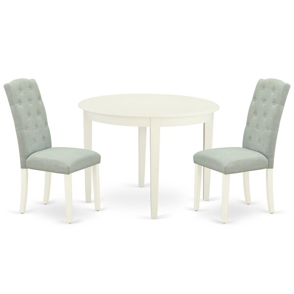 Naeem 3 Piece Solid Wood Dining Set By Winston Porter