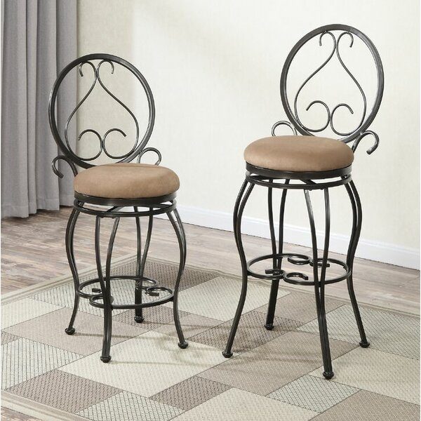 Bentley 24 Swivel Bar Stool (Set of 2) by Fleur De Lis Living