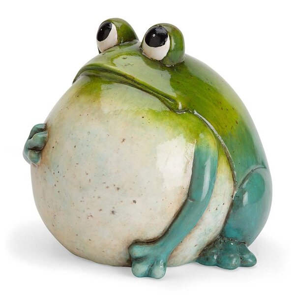 Wind Amp Weather Big Belly Ceramic Frog Statue Amp Reviews
