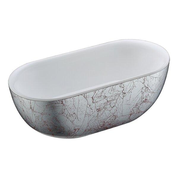 Knight Series 72.05'' x 34.06'' Freestanding Soaking Bathtub by ANZZI
