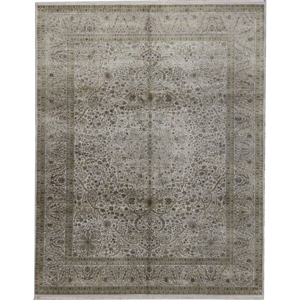 One-of-a-Kind Shamas Hand-Knotted Beige 7'10 x 10'1 Area Rug