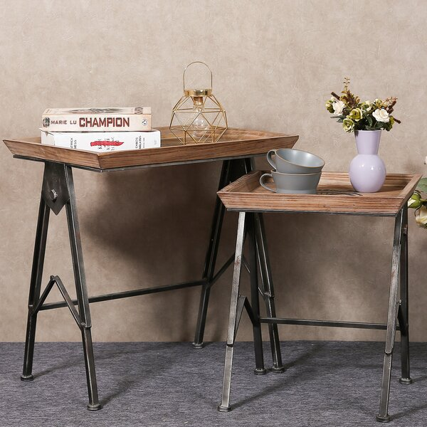 Sharee 2 Piece TV Tray Table Set by Williston Forge